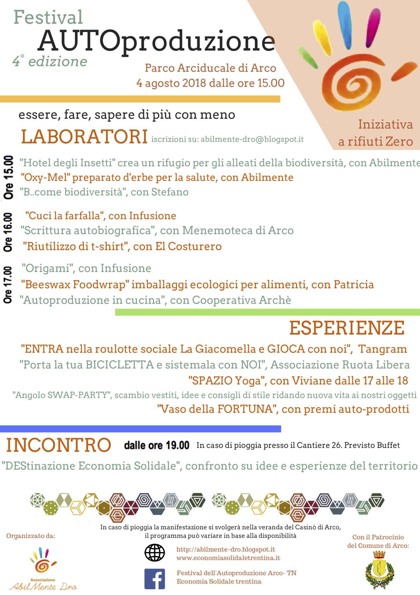 Festival dell'Autoproduzione @ Parco Arciducale | Arco | Trentino-Alto Adige | Italia