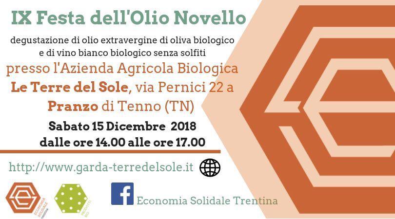 IX Festa dell'Olio Novello @ Azienda Agricola Biologica Le Terre del Sole | Predaia | Italia