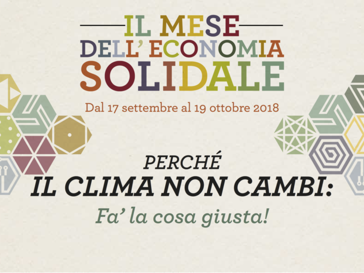 Al via il Mese dell'Economia Solidale Trentina-2018